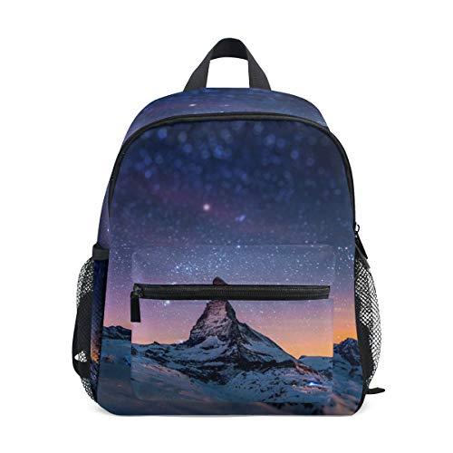 Mochila Mochila Mountain Top Starry Sky Mochila para niños y niñas Cute Outdoor Casual Daypack