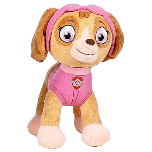 Pluche, compatibel met Paw Patrol, 1 x knuffeldier voor kinderen 19 cm puppy tv-serie | pluche dier | cadeau voor kinderen | meisjes | jongens | (Skye)