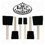 Royal and Langnickel 6 Art Foam Brush Set - 2 x 1 inch, 2 x 2 inch and 2 x 3 inch by Royal & Langnickel