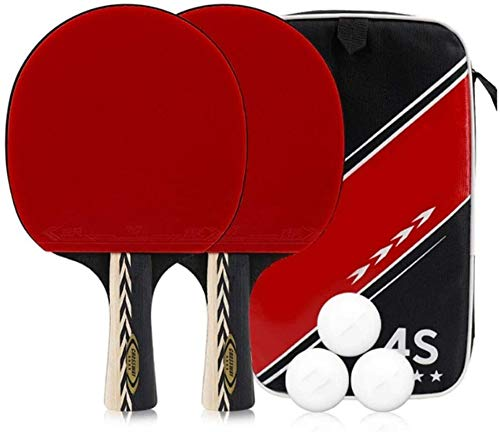 Kit Ping Pong Portátil para Interiores Exteriores Paleta de ping pong Mesa de ping pong Juego de paleta con 2 raquetas profesionales 3 bolas y 1 caja de almacenamiento portátil for el entrenamiento de