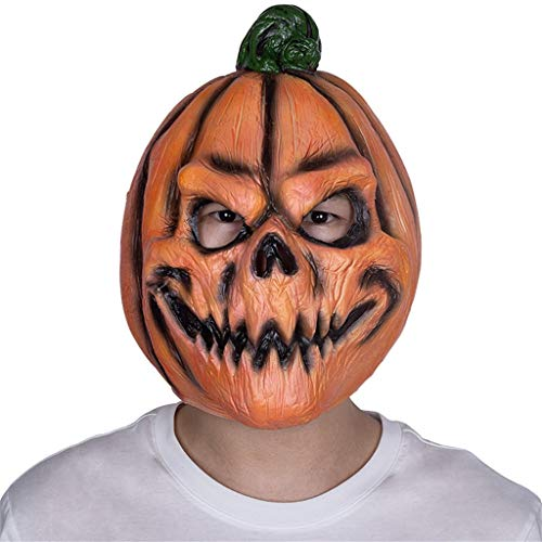 JGBHPNYX KüRbis latex hoofd set Halloween Horror Ball Carnaval Party Grappig masker