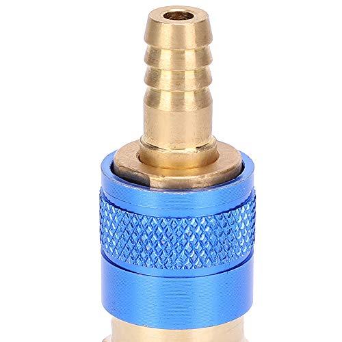 Juego de conectores rápidos, adaptador de gas, adaptador refrigerado por agua para antorcha de soldador MIG TIG(blue)