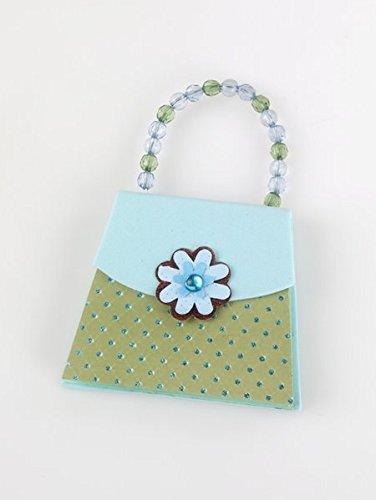 Handbag Notes - Blue & Green - Notizblock: Mini-Designertasche mit Notepad