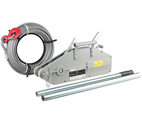 Pro-Lift-Montagetechnik 1600kg Seilwinde, Forstseilwinde, mit 20m Stahlseil, 01129