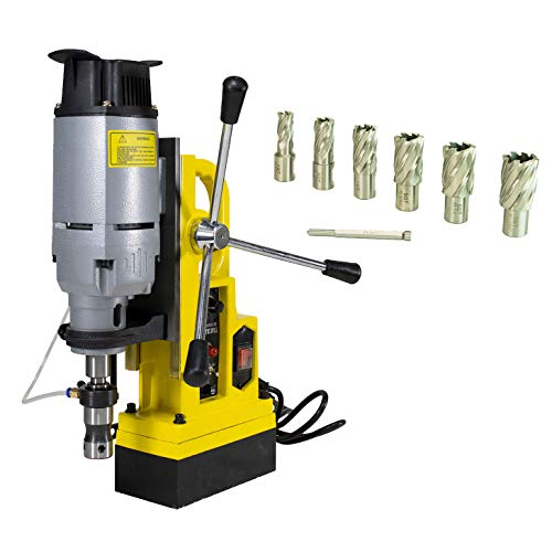 Steel Dragon Tools MD45 Magnetic Drill Press with 7PC 1in. HSS Annular Cutter Kit
