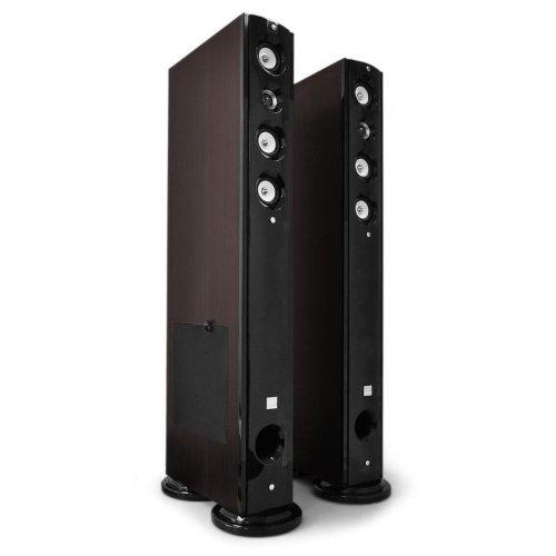 Koda D92F Heimkino-Lautsprecher Paar Stand-Boxen Standlautsprecher (2X 1500 W max, 5-Wegetechnik mit Bassreflex, Sidefiring-Subwoofer) Dunkelbraun