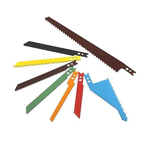 Snijden Cirkelzaagblad Decoupeerzaag Scroll Blades Sabre Scroll Assortiment Set Hout Metaal Staal Gipsplaten Blades 8 stks