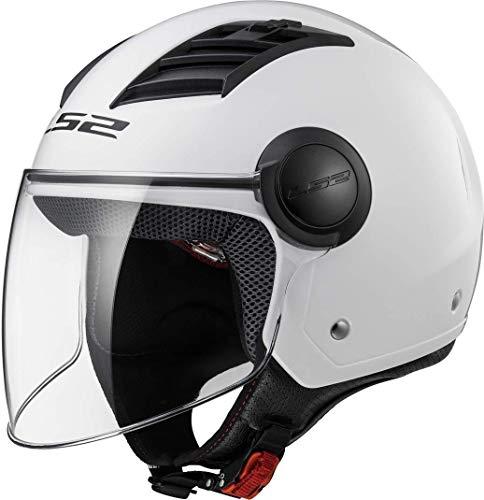 Casco abierto para moto LS2 Airflow L blanco brillo (XS)
