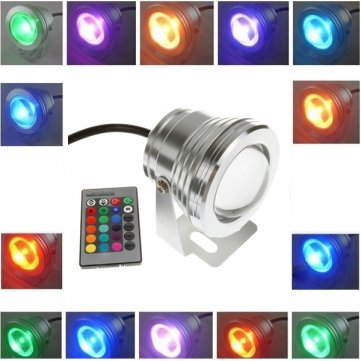 Sous RVB lumière extérieure étanche LED de 10W avec télécommande