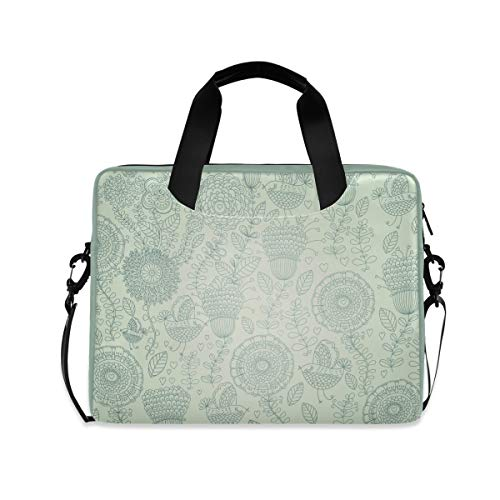 Laptop Case for Women Men Laptop Bag Briefcase 15.6 Inch Tablet Shoulder Bag Carrying Case, Fresh Decorative Pattern