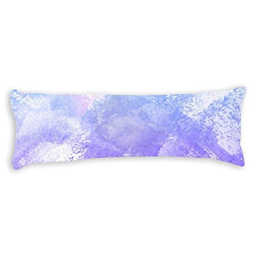 pealrich Fundas de almohada para cabello y piel 35.5 x 60.9 cm, color lila acuarela decorativa funda de cojín para sofá, dormitorio, coche