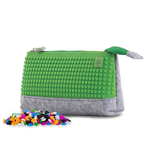 PIXIE CREW, Federmäppchen, Schlampermäppchen, Etui für Kinder, Praktische Verpackung für Schreibwaren, 20,3 x 12 x 3,7 cm, Orange