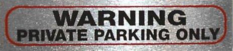 eCobbler No Parking - 17 cm x 10 cm-Parking PRIVÉ \