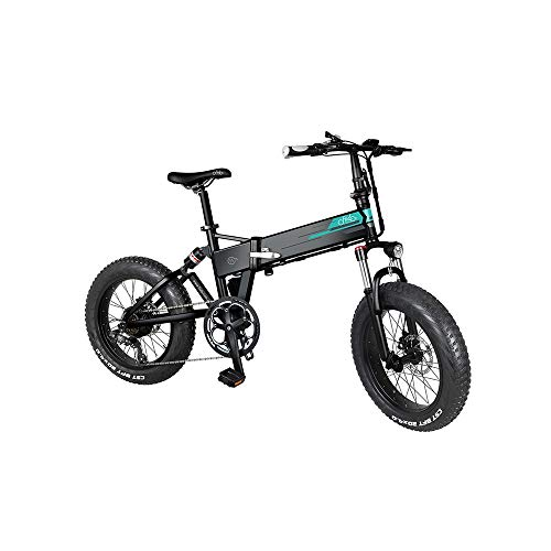 LLYU 20' Wheels Electric Bicycle for Adults City Commuting Outdoor Cycling Folding Electric Mountain Bike 250W Motor 7 Speed Derailleur 3 Mode LCD Display