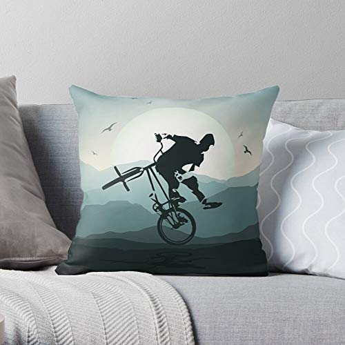 Sheets Bed Mbx Freestyle Backpack BMX Cool - Retro - - Pillow Square Cushion Cover for Bedroom Sofa Living Room !! Customize