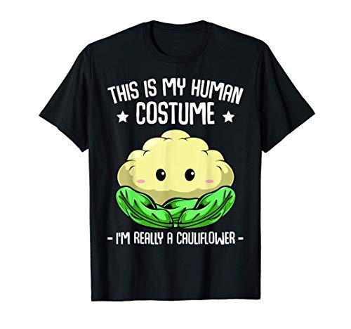 Questo è il mio costume umano Sono davvero un cavolfiore Maglietta