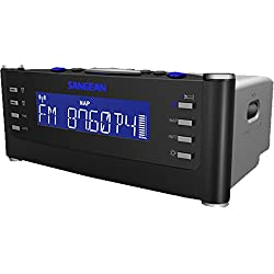 Sangean RCR-22 Atomic Clock with PLL Synthesized FM-RBDS/AM/Tuner Clock Radio with Radio Controlled Clock (Special Edition Black)