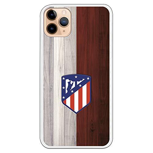 Funda para iPhone 11 Pro MAX del Atleti para Proteger tu móvil. Carcasa para Apple de Silicona Flexible con Licencia Oficial de Atlético de Madrid.