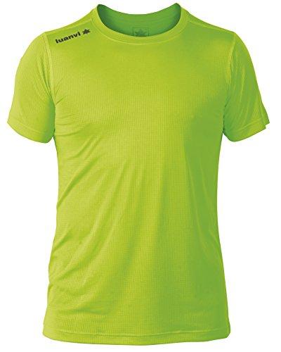 Luanvi Nocaut Gama Pack de 5 Camisetas, Hombre, Verde flúor, L