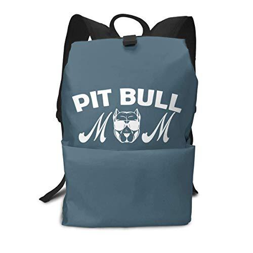 Homebe Rucksäcke,Daypack,Schulrucksack Backpack Für Jungen und Mädchen,Pit Bull Mom Printed Primary Junior High School Bag Bookbag
