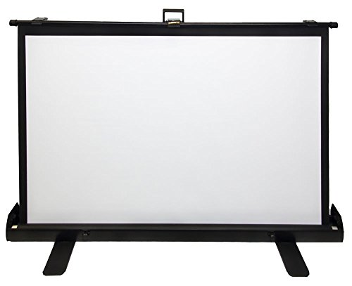 """Luxburg® 100"""" 221x125cm Portable Freestanding Floor Pull-up Screen Projector, Projection Screen - Matt White Screen 16:9 (87""""x 49"""") Stands on its owns!"""