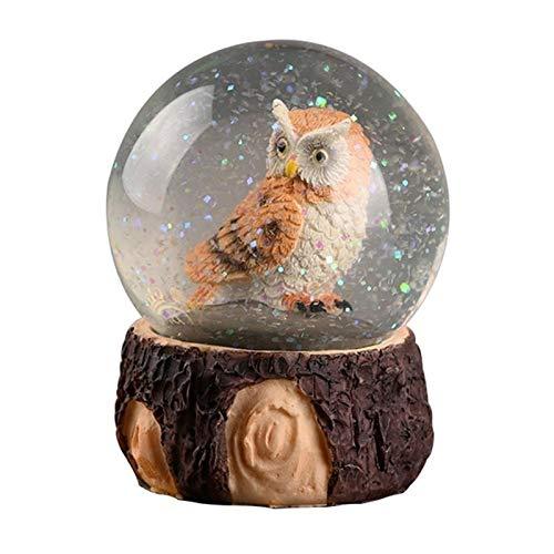 Moonlight Star Dekorative Kugeln 1 stück Kristallkugel Verzierung kreativer nordischer Eule Kristallkugeldekor (zufälliger Stil) (Größe : Style A)