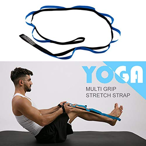 YSHTAN Yoga Band Yoga Apparatuur Weerstand Band Yoga Stretch Band Elastische Meerdere Grip Loops Fitness Workout Weerstand Band