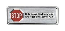 Aluminium Schild Bitte keine Werbung oder Anzeigeblätter einwerfen