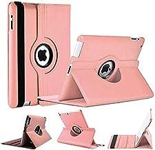 World Biz - Funda Tipo Libro para iPad (Piel sintética, función Atril, rotación de 360°) Rosa Dust Pink Apple iPad 9.7 (2017) and (2018)