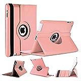 World Biz Étui Portefeuille en Cuir PU résistant aux Chocs avec Fonction Support Pliable Apple iPad Air 2 Dust Pink