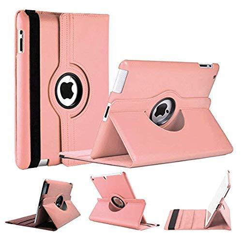 World Biz - Custodia a portafoglio per iPad, antiurto, in pelle PU, a libro, rotazione a 360°, con funzione di supporto pieghevole rosa Dust Pink Apple iPad 2/3/4