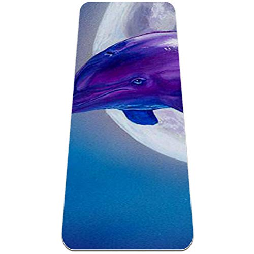 Yoga Mat - Dolphin Wall Decor - Extra Thick Non Slip Exercise & Fitness Mat for All Types of Yoga,Pilates & Floor Workouts