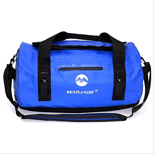 SYFO 30L 60L 90L large capacity waterproof bag Upstream to the outdoor swimming Camping river water surf fishing browser roof dry storage (Color : BULE, Tamaño : 90L)