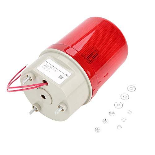 【??????】 Luz de advertencia, LED rojo Baliza de advertencia Alarma acústica-óptica Luz giratoria Luz estroboscópica de emergencia 220V