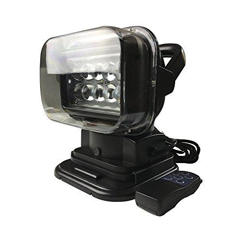 Lantsun LED Search Light Rotating Remote Control 360° LED Spot Light Wireless Portable Searchlight Spotlights 12V For Boat Truck SUV Camping Garden Emergency