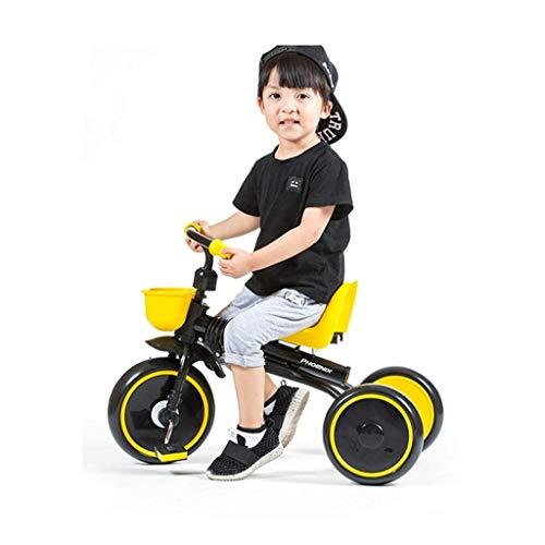 seveni Bicicletas para niños, Triciclo para niños, Bicicleta Plegable para niños de 1-3 años, Bicicleta portátil, Silla de Paseo para Exteriores (Color: Negro, tamaño: 79 * 50 * 39 cm)
