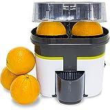 Cecotec Exprimidor Naranjas eléctrico Cecojuicer Zitrus Turbo. 90 W, Doble Cabezal y Cortador, Depósito de 500 ml con...