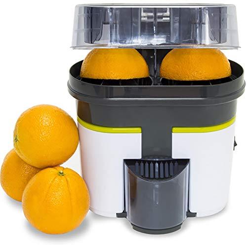 Cecotec Exprimidor Naranjas eléctrico Cecojuicer Zitrus Turbo. 90 W, Doble Cabezal y Cortador, Depósito de 500 ml con Filtro, Libre de BPA, Fácil Limpieza