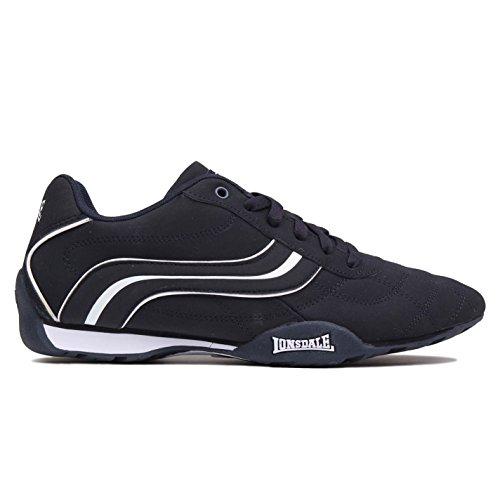 Lonsdale Hombre Camden Zapatos de deporte Navy/Blanco 46