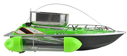 ISO TRADE Fishfutter Boot Ferngesteuert bis zu 300m 1,2kg Futterbehälter Komplettes Set 6050