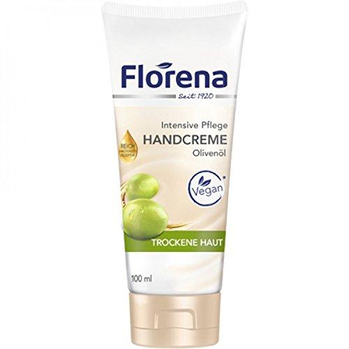 Florena Handcreme mit Olivenöl vegan 6er Pack (6 x 100 ml)