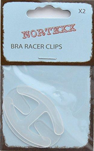 Nortexx–Reggiseno Racer Clip, Coppia di 2, Trasparente