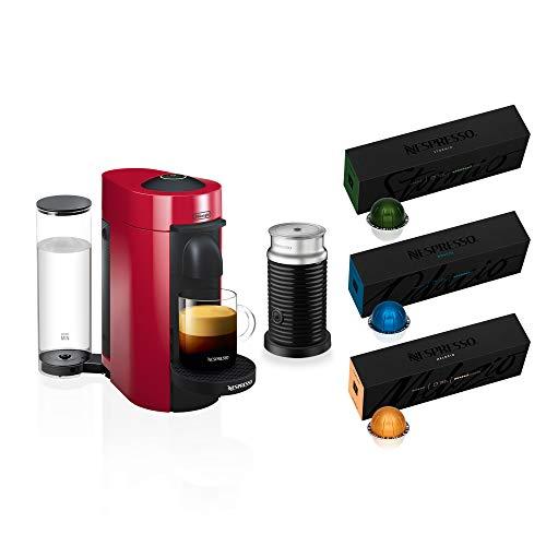 Nespresso VertuoPlus Coffee and Espresso Machine Bundle...