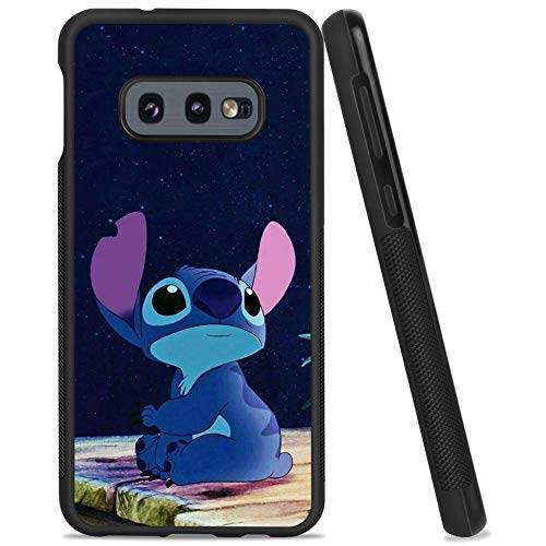 DISNEY COLLECTION Case for Samsung Galaxy S10e, Stitch Watch The Sky Ultra-Thin Soft TPU and Hard PC Tire Texture Anti-Skid Case Full Protective Cover for Samsung Galaxy S10e 5.8 Inch.