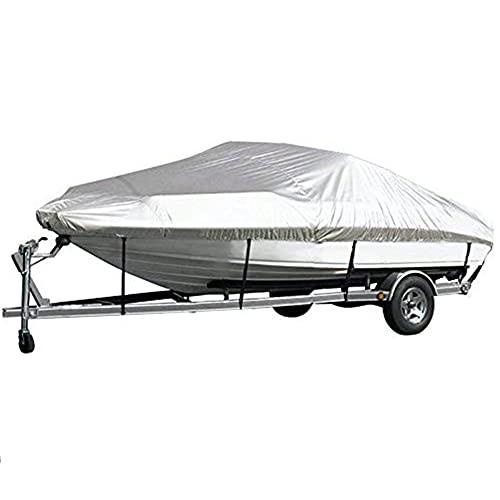 Funda para Barco, Trailerable Boat Cover, Funda De Lancha Motora, Impermeable Tela De 210D Oxford, Pesca Ski Bass Speedboat V-Shape