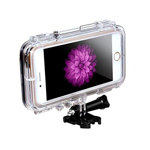 LC Prime® iPhone 6/6s Waterdichte Hoesje met 170° Goud brede Hoek Lens voor GoPro Accessoires