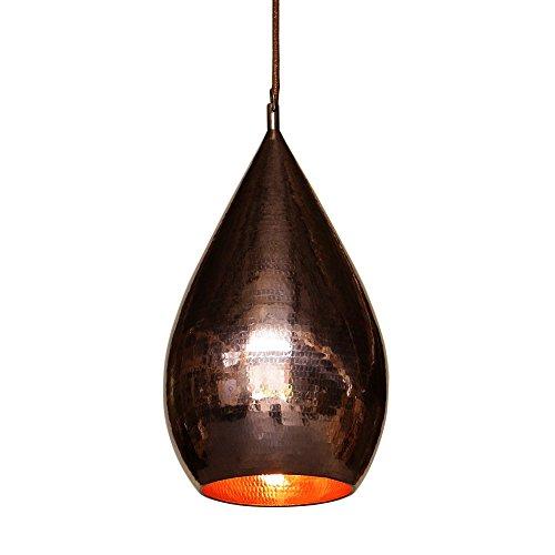 wohnfreuden Kupfer-Lampe aus Metall ✓ Hängelampe Pendelleuchte Hängeleuchte ✓ echte Handarbeit ✓ Kupferleuchten für Wohnzimmer Esszimmer Restaurant Küche