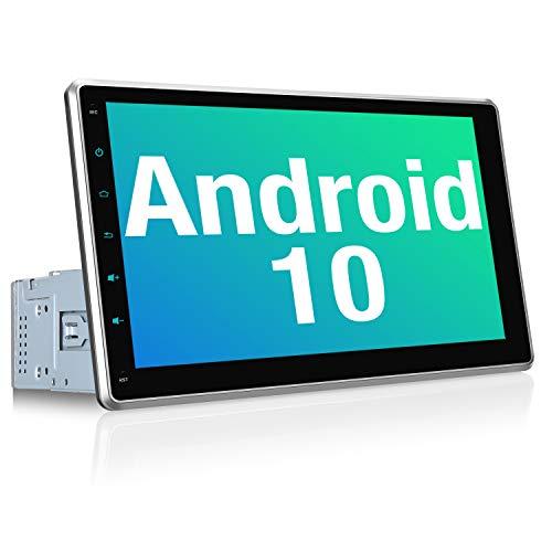 PUMPKIN Android 10 Autoradio Moniceiver mit Navi Unterstützt Bluetooth DAB + Android Auto WiFi 4G USB 10,1 Zoll IPS Bildschirm 1 Din