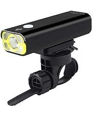 Eastshining 自転車ライト ロードバイクライト 2500mAh 600ルーメン LED高輝度 黄色光学レンズ 5モード USB充電 IPX3防水 着脱簡単
