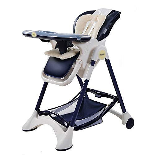 Xiao Jian- Baby-kinderstoel - bij voorkeur leer + roestvrij stalen buis + voedselkwaliteit PP, 6 maanden - 3 jaar oude baby multifunctionele zittende liggende draagbare opvouwbare anti-dumping stoel - 5